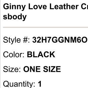 41597b307724 Michael Kors Bags   Nwt Ginny Love Leather Crossbody   Poshmark